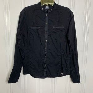 The North Face Black Button Front Shirt Size Small